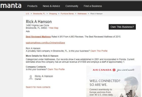 ricky-hanson-mattress-sale