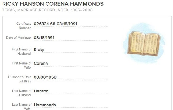 ricky-hanson-correna-married